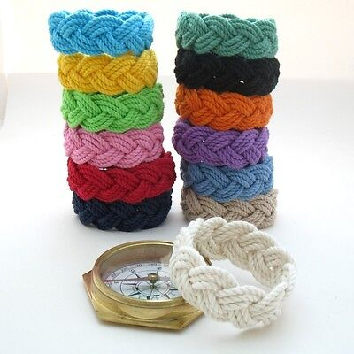 Original Sailor Knot Surfer Beach Rope Bracelet by Mystic Knotwork: 13 Colors