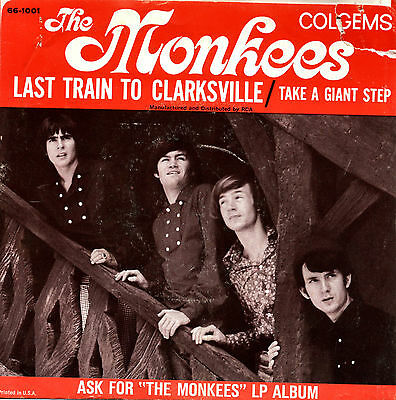 THE MONKEES, LAST TRAIN TO CLARKSVILLE, ORIG 1966 WITH PICTURE SLV