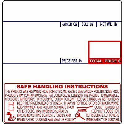 CAS LST-8040 Printing Scale Label, 58 x 60 mm, UPC/Safe Handling -12Rolls
