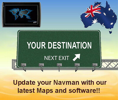 Update your Navman GPS with 2018 australia & NZ maps and software