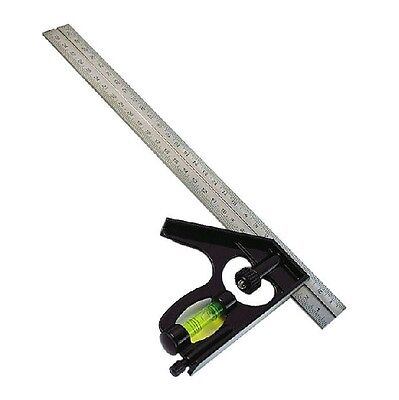 GJCL05 Stainless Steel Combination Square Carpenters Tool 300mm NEW