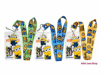 Despicable Me Minion Lanyard Neck Straps Phone Key Card ID (NEW)