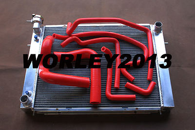 Aluminum radiator + Red hose for HOLDEN Commodore VN VP VR VS V8 5.0L SS 304