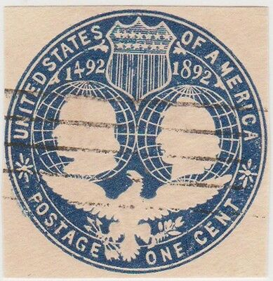 (RK9) 1883-1938 USA 9cut outs 1c to 4c