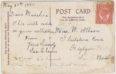 (RK24) 1900 QLD early post card to south Brisbane
