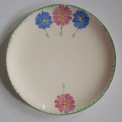 H&K TUNSTALL - Lovely ART DECO Handpainted Plate - Vintage VGC - Flowers