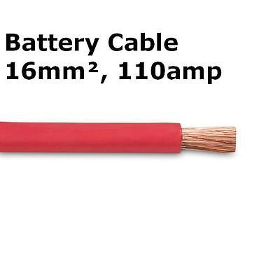 3m Red Battery Welding Cable 16mm² 110a - Flexible Marine Boat Automotive Wire
