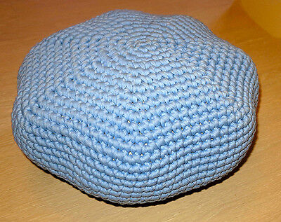 cotton pouf hand knitted small