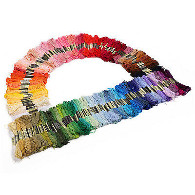 200 Colours Sewing Skeins Cross Stitch 100% Cotton Embroidery Thread Floss