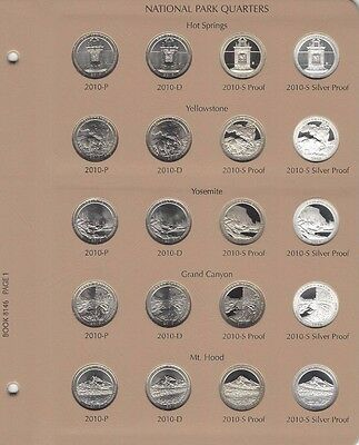 2010- 2015 ATB National Park 120 Quarter Set PDSS Clad/Silver Proof Dansco Album