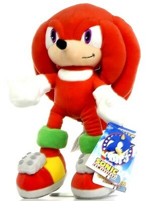"New Official 14"" Knuckles Plush Soft Toy Friend Of Sonic The Hedgehog And Tails"