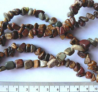 Beads Natural Picasso Stone 5-15mm Earth Tone Mini Nuggets & Chips x 20 pieces
