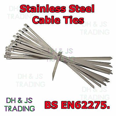 Stainless Steel Cable Tie Ties Heat Exhaust Wrap Metal Zip Tie Various Sizes