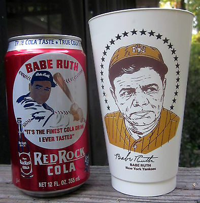 Babe Ruth Red Rock Cola 12 oz. Aluminum Soda Can c1994 American West Beverages