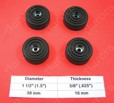 """4 Rubber Feet (1.5"""" x .63"""") Amplifier, Receiver, Speaker, Electronic Components"""