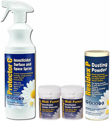 Bed Bug Killer Treatment Kit Fumer Bed Bugs Spray Powder Fleas Bedroom