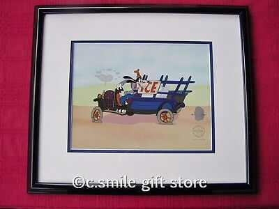 WDCC DISNEY *Moving Day* Goofy Framed LE Sericel COA MINT VERY RARE!!