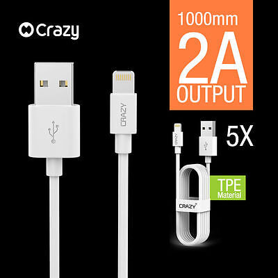 5 X CRAZY Lightning Data Cable Charger for iPhone 5 S C 6 7 Plus iPad iPod