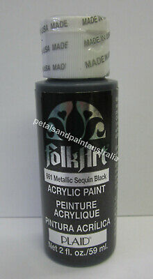 59ml Plaid Folk Art Acrylic Paint 666 Metallic Antique Copper For Painting Craft