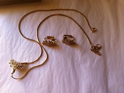 Vintage Avon's 1989 Cocktail Necklace with Matching Earrings - Large