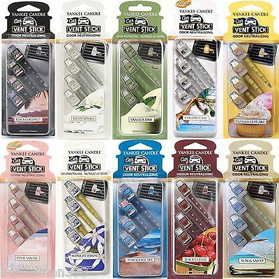Yankee Candle Vent Sticks Car Air Freshener 4 Packs - Choose From All 17 Scents