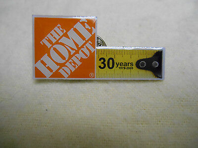 NEW Home Depot Advertising Lapel Pin 30 Years tape Measure Promo
