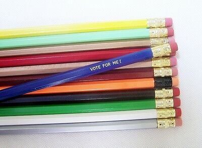 48 Assorted Hexagon Personalized Pencils in 35+ colors