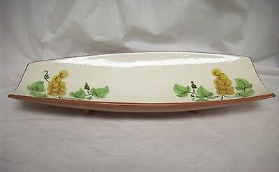 Used Stangl Golden Grape Large Curved Serving Dish Bread Celery Tray