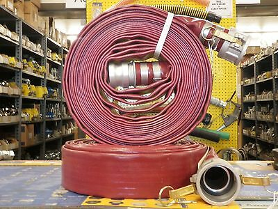 "2"" x 50' RED PVC DISCHARGE HOSE ASSEMBLY - W/Male & Female Camlock Fittings"