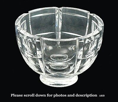 Gracefully Designed Swedish Glass Orrefors Cupped Small Bowl/Dish