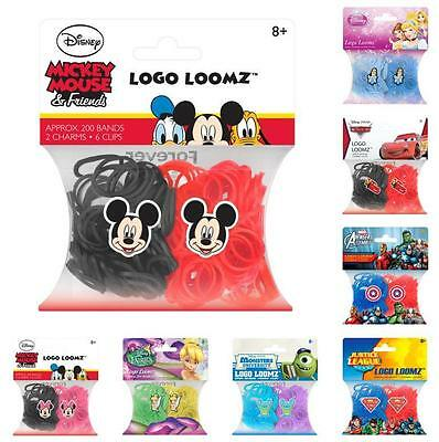 Entertainment Logo Loomz Rubber Filler Pack Kit - 200 Loom Bands & 2 Charms