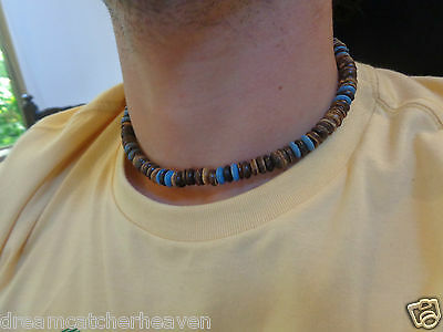 Funky Cool Unisex Coconut Beaded Surf Necklace Rrp $6 W/sale Store