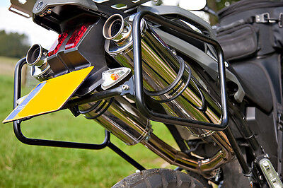 YAMAHA XT660Z Tenere Stainless round ROAD LEGAL MTC Exhausts
