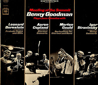 CLASSICAL LP MEETING AT THE SUMMIT BENNY GOODMAN BERNSTEIN COPLAND GOULD