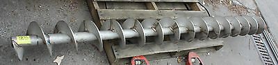 Large Helical stainless auger screw feeder conveyor 2470mm long 220mm diameter