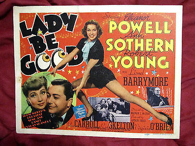 Lady Be Good (1941) Eleanor Powell/ann Sothern/robert Young -Rare Mgm Title Card