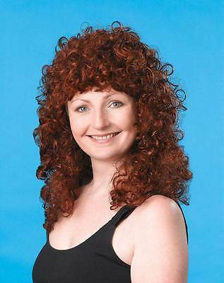 Curly Wig Long Ginger, Fancy Dress Party Wig, Halloween