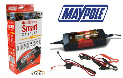 MAYPOLE MP7423 Electronic Car Battery Charger 3.8 A Fast/Trickle/Pulse Modes
