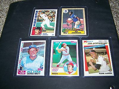 1982 1983 1984 1985 1986 1987 Topps w/ others Complete Your Set You Pick 5 Stars