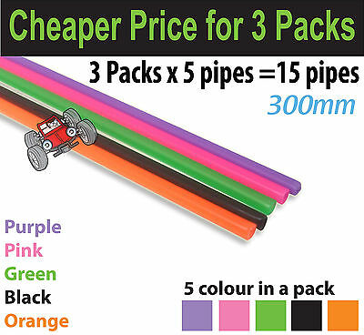 3 Packs x Team Laser Colourful Antenna Tube For HSP RC Car - 5 Pieces/ Pack