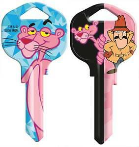 "PINK PANTHER House Key Blank KW1 Kwikset REVERSABLE ""Detective"""