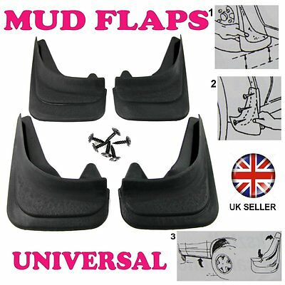 1/2R FOR FORD FOCUS ESCORD SET RUBBER MOULDED MUDFLAPS 4 x MUD FLAPS FRONT REAR