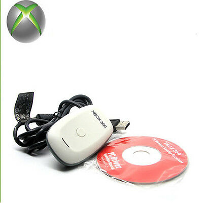 New USB Wireless Gaming Controller Receiver Adapter For Windows PC Xbox 360