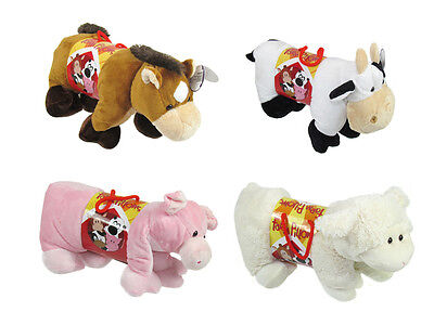 Farm Animal Large Pillow Gift Cuddly Travel Cushion Soft Toy Cow Pig Sheep Horse