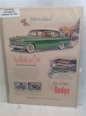 1953 Dodge Classic Vintage Automobile Magazine Advertisement Ad D8