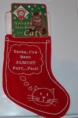 Holiday Stocking For Cats 12 inch New WIth tag ((Plush Puppies Brand Name))