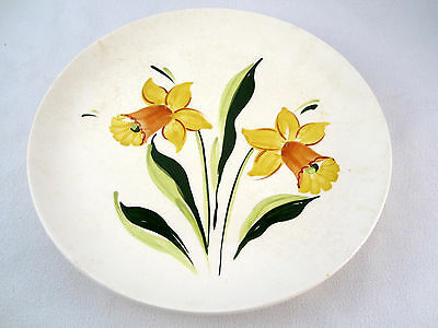 "Vintage Canadian Sovereign Potters Hand Painted Flowers 10"" Earthenware Plate"