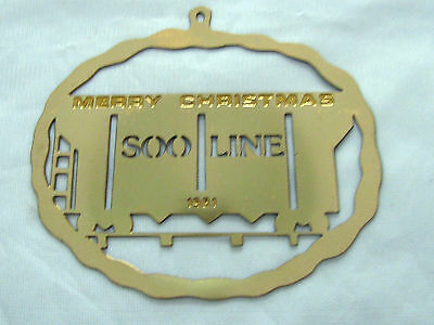 Soo Railroad Christmas Ornamental 24K Gold Plated Treasure 1981