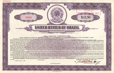United States of Brazil > Estados Unidos do Brazil > specimen stock certificate