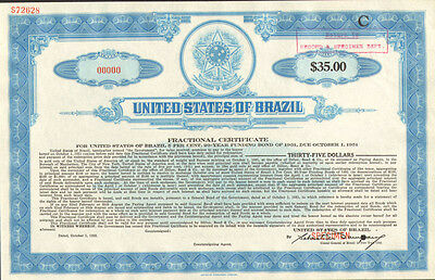 United States of Brazil > Estados Unidos do Brazil specimen stock certificate C